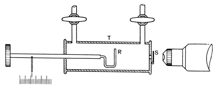 Схема установки Резерфорда по